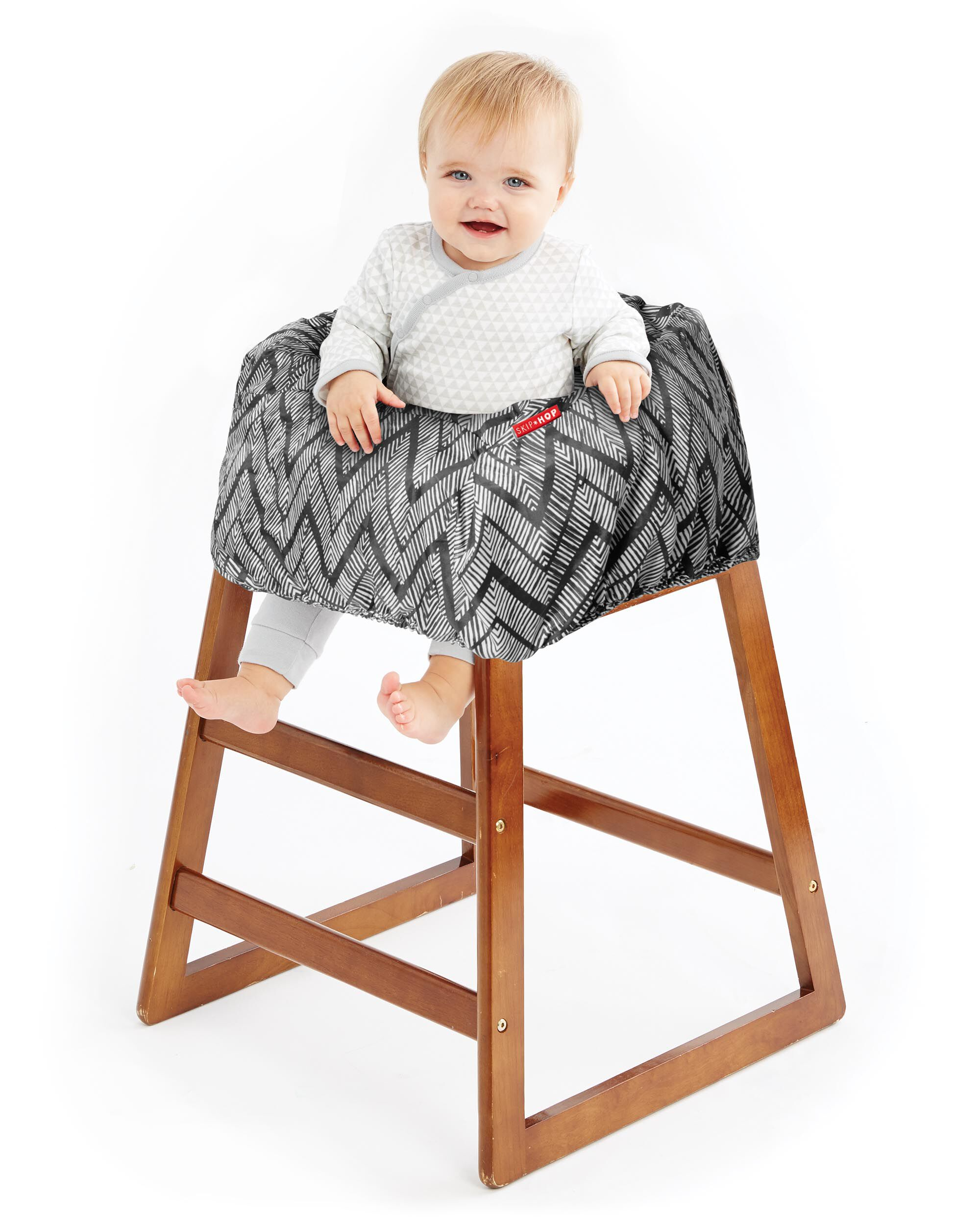carters high chair cover indoor rattan with ottoman take shopping cart and baby skiphop