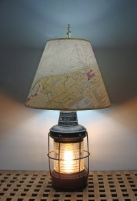 Nautical Table Lamp Re-purposed Anchor Lantern *: Skipjack ...