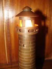 Vintage Cast Brass Lighthouse Table Light: Skipjack ...