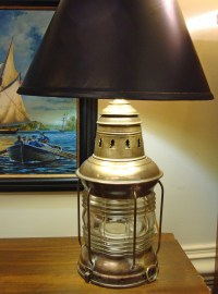 Re-Purposed National Marine Co Lantern Table Lamp