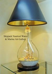 Vintage Ship-in-a-Bottle Nautical Table Lamp: Skipjack ...