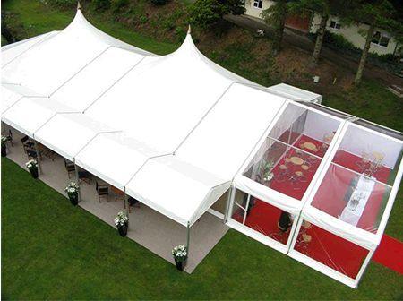 Alu-frame tent 10 meter breed – high peak