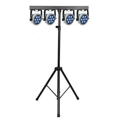 Lichtbalk incl. 4 par-spots LED (RGB) op statief
