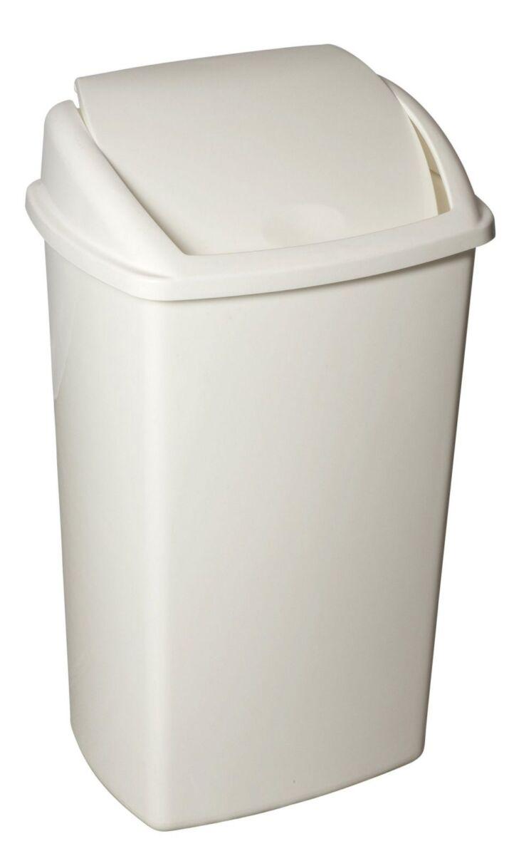 Afvalbak 50L wit inclusief deksel