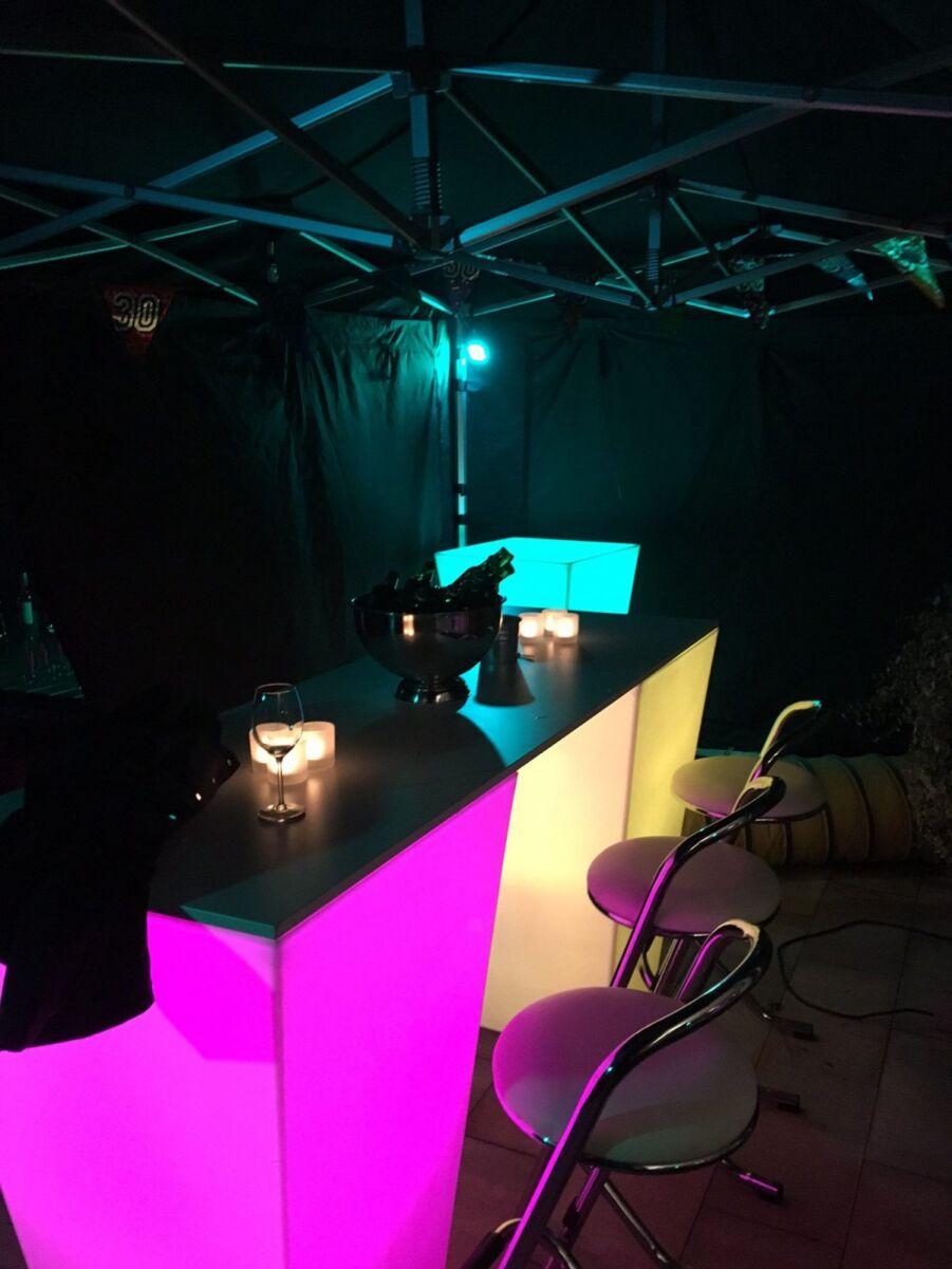 LED lamp RGB-blok 20x20cm per 3