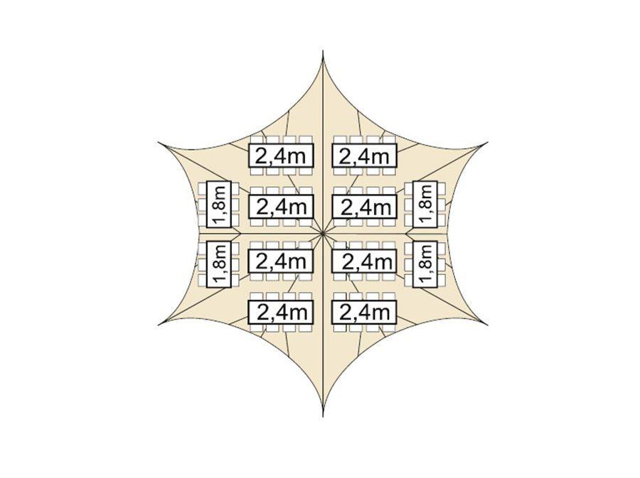 Starshade tent 17 meter