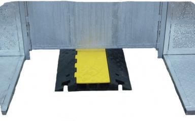 Stage barrier flexibele hoek