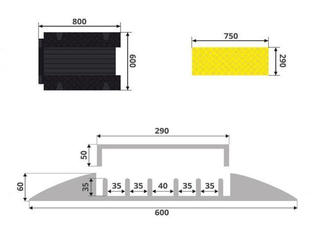 Kabelbeschermer met 5 kanalen