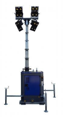 Lichtmast LED incl. aggregaat max hoogte 8 m