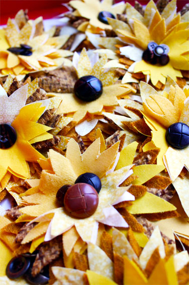 Fabric Sunflowers from Skip to My Lou