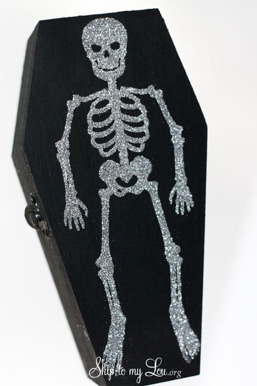 Glitter Skeleton Coffin Boxes Skip To My Lou