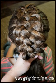 five strand puffy braiding girly