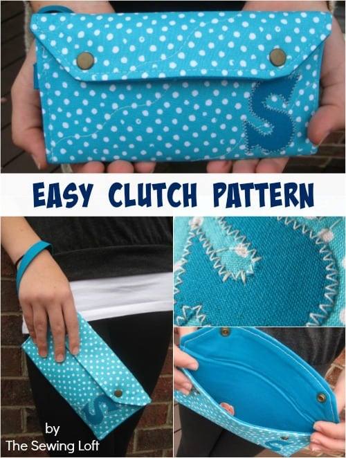 Easy to make clutch purse pattern  Skip To My Lou