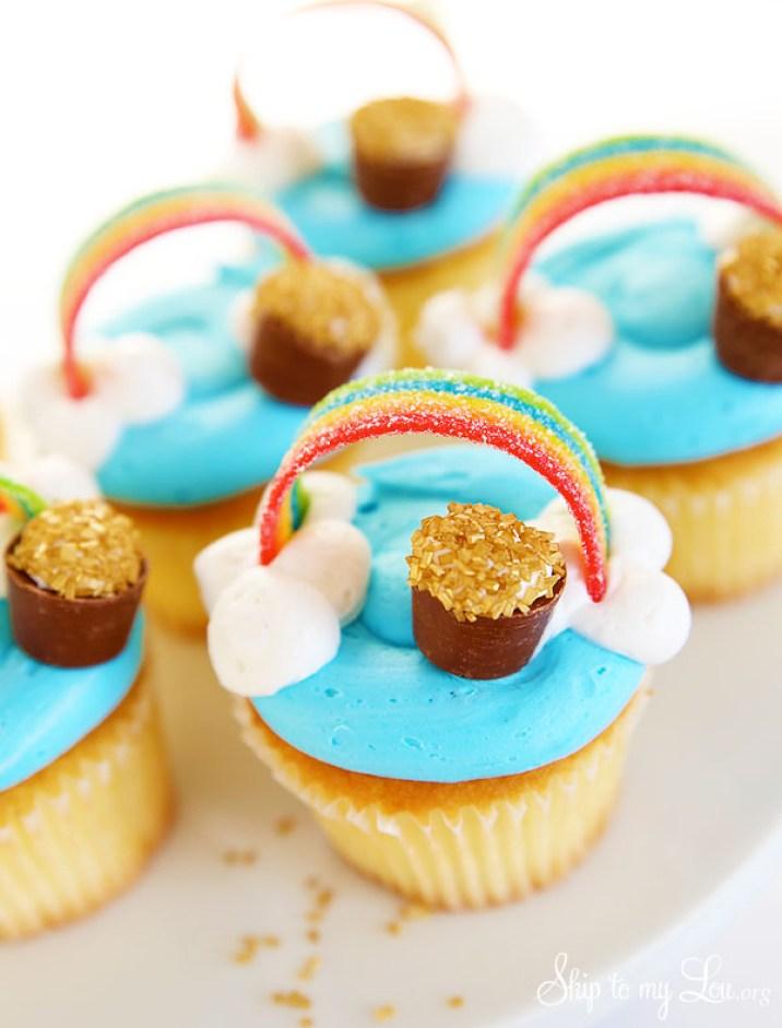 Rainbow cupcakes St Patricks Day