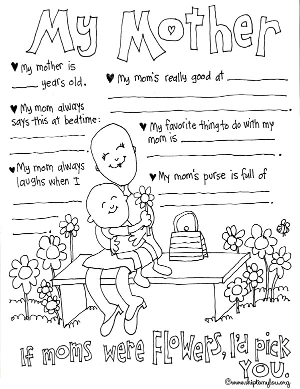 Mother S Day Coloring Pages To Celebrate The Best Mom Skip To My Lou