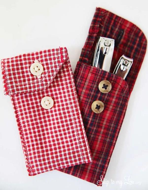 DIY shirt cuff pouch