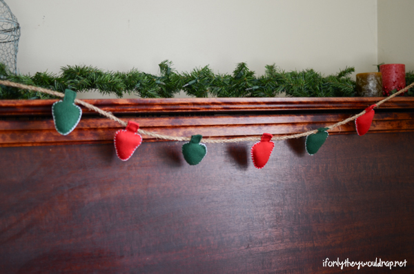 christmas light garland tutorial