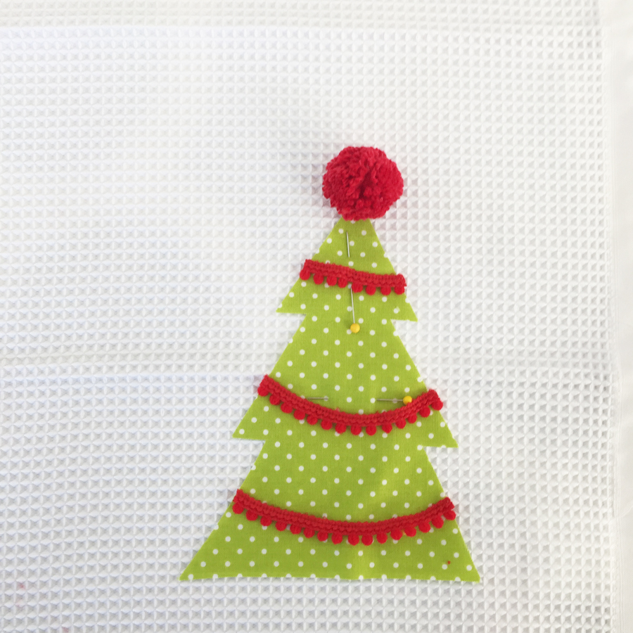 pin tree on towel
