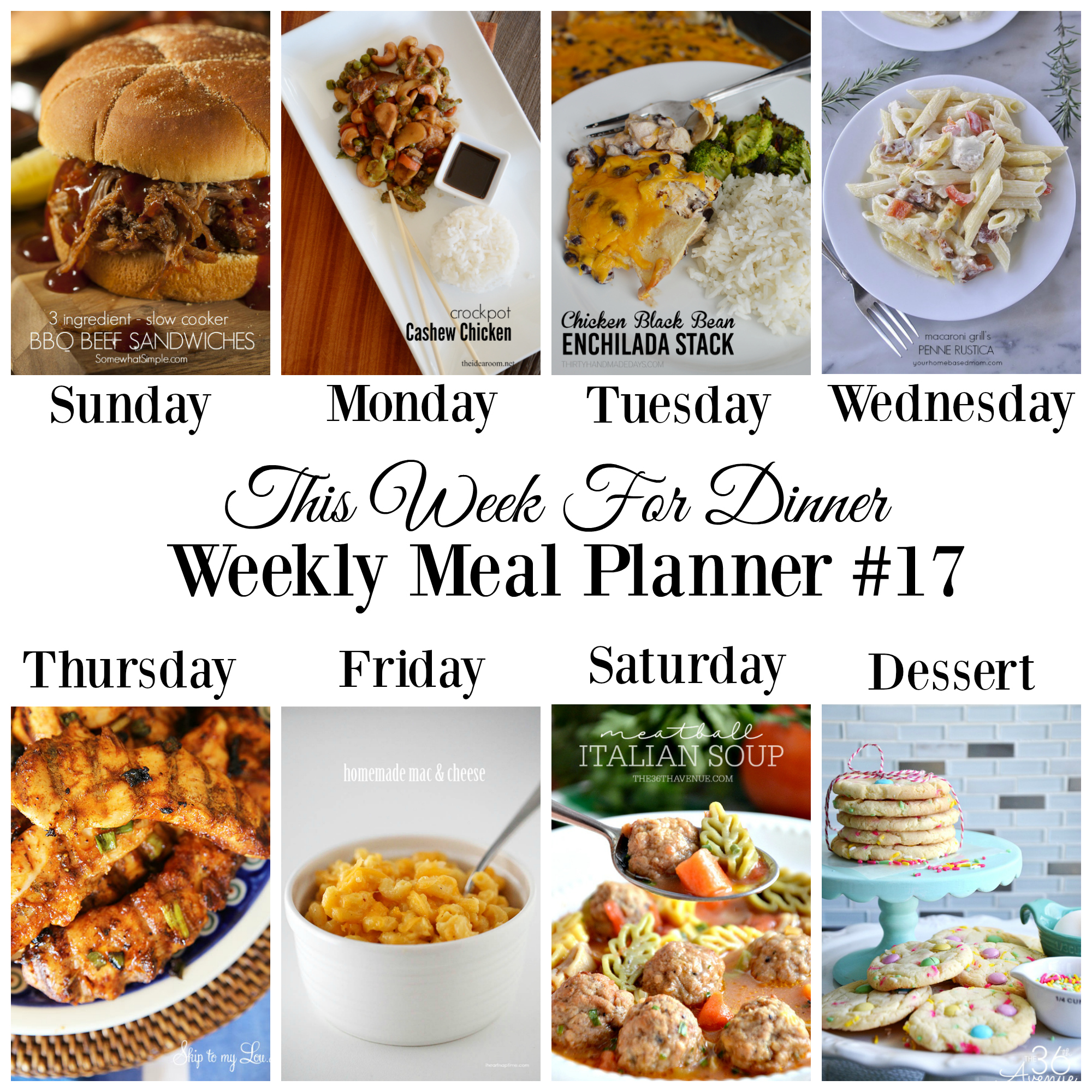 This Week For Dinner Weekly Meal Plan 17