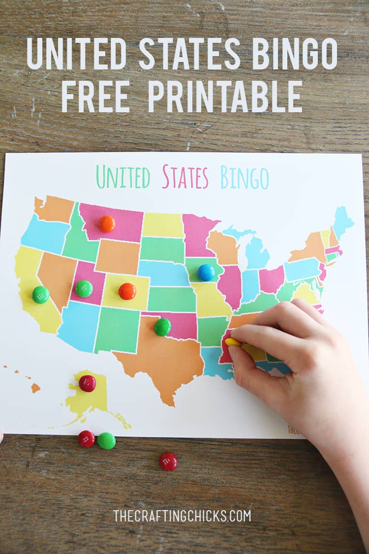 US Map Game FREE Printable US State Map Skip To My Lou