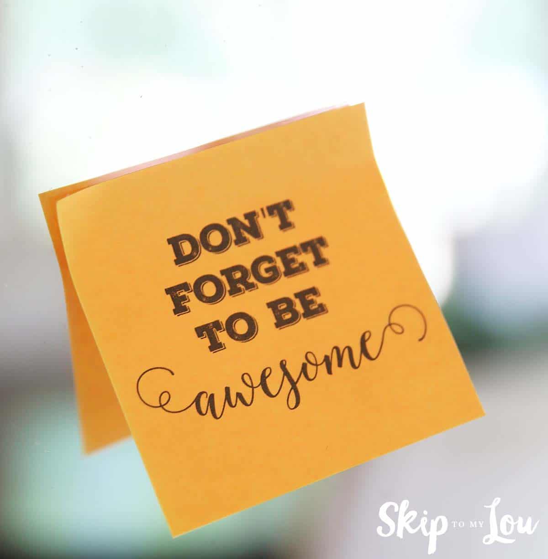 Printable Custom Post It Notes Reminders Skip To My Lou