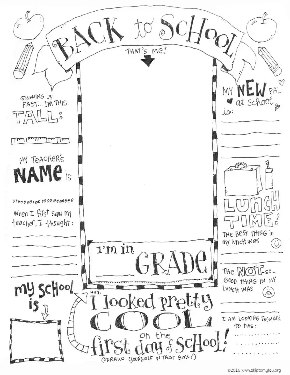 hight resolution of First Day of School Coloring Pages (UPDATED WITH VIRTUAL OPTION)   Skip To  My Lou