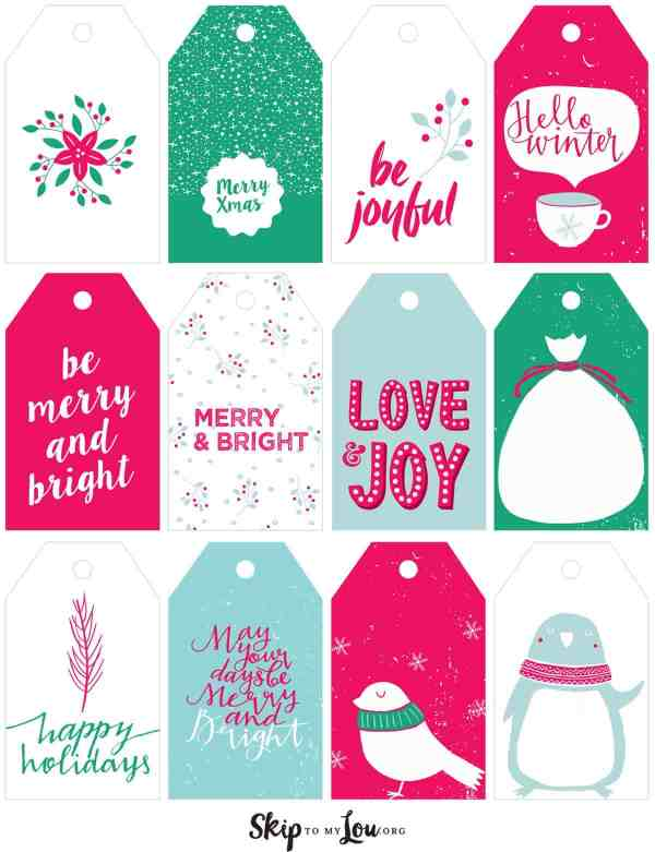 Printable Christmas Gift Tags Skip To My Lou