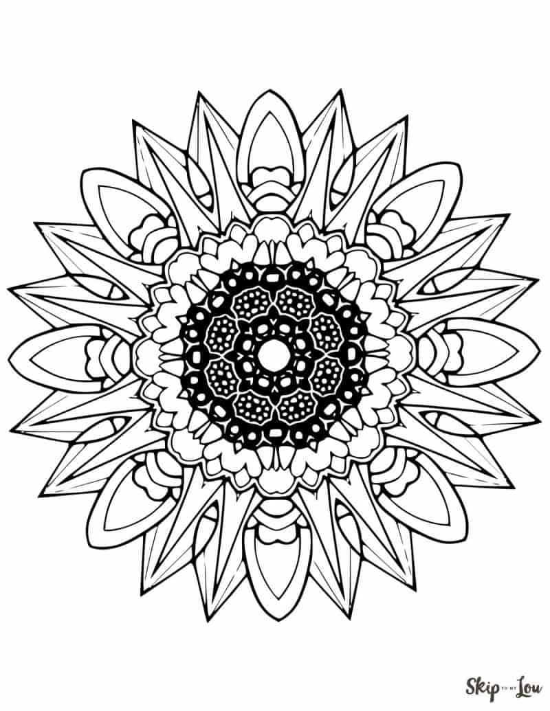 Mandala Coloring Pages Skip To My Lou