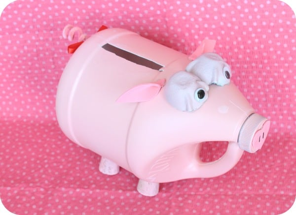 pig made from clorox bottle or gallon jug