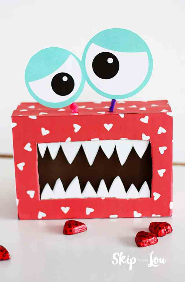 Valentines Day Monster Box DIY