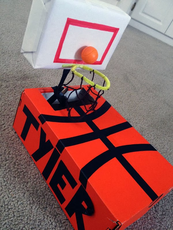 basket ball valentine box
