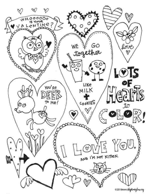 printable valentines day coloring pages # 33