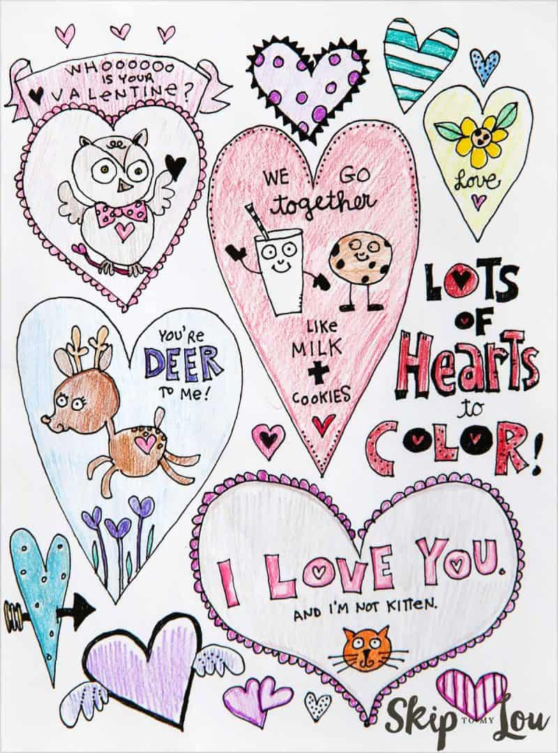 Adorable free heart coloring pages skip my lou, coloring pages love hearts