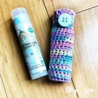 Easy Crochet Lip Balm Holder {FREE Pattern} | Skip To My Lou