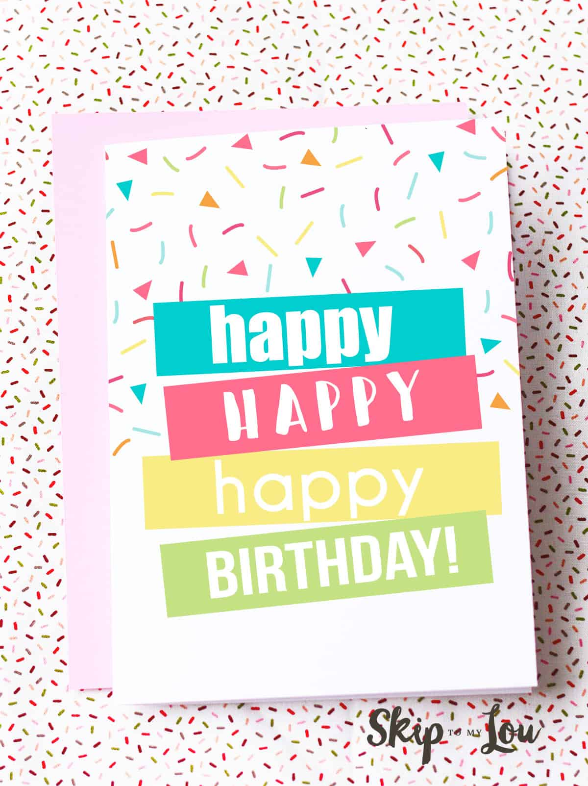 happy birthday card to print