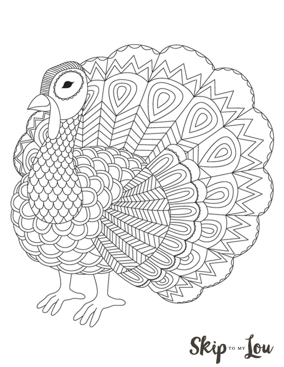 The Cutest Free Turkey Coloring Pages