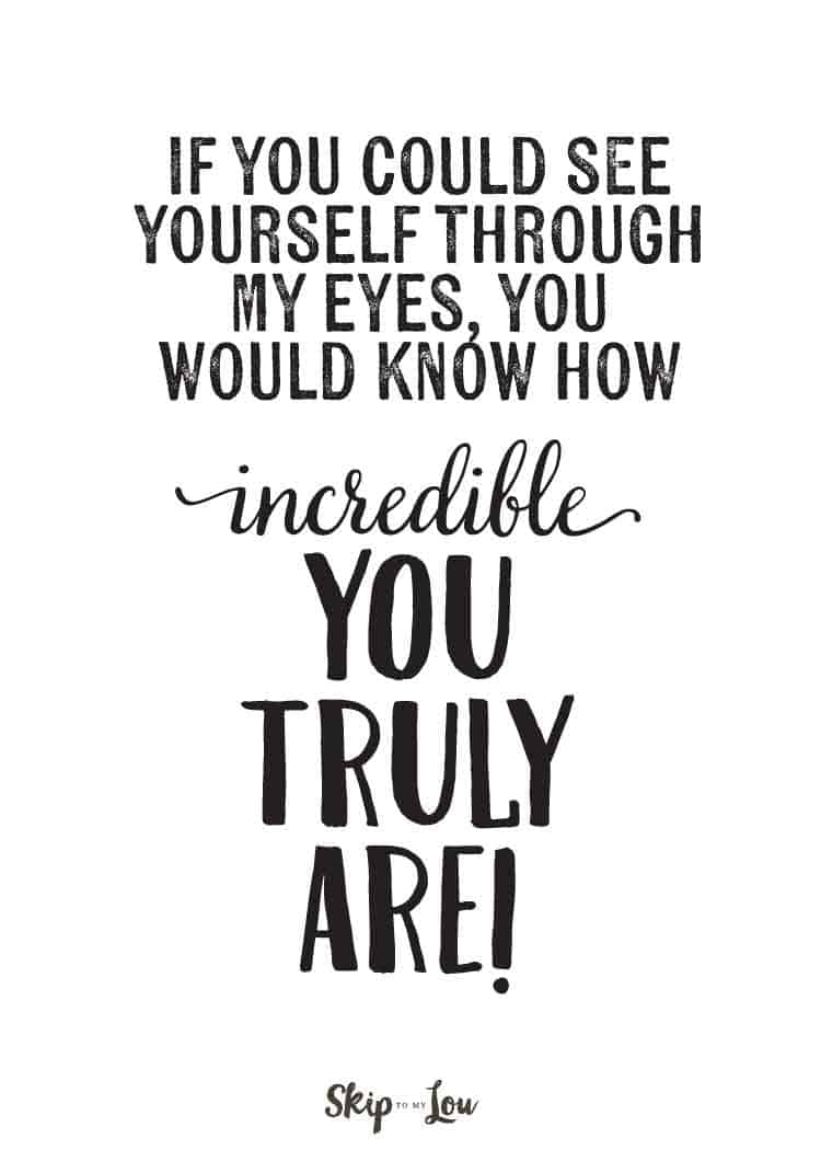 Positive affirmations {PRINT and share with friends