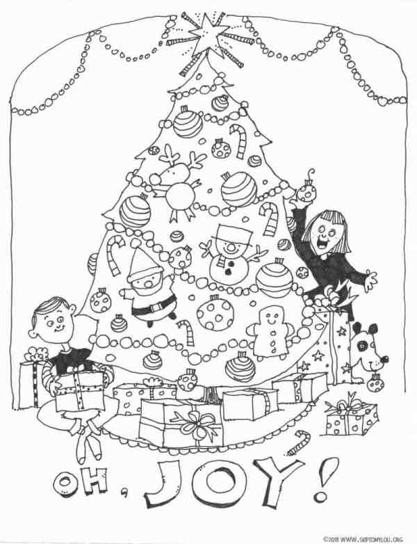 coloring pages christmas tree # 24