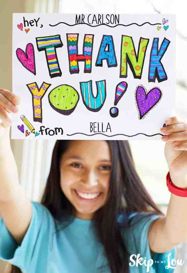 Cute Printable Thank You Sign FREE Coloring Page  Skip To My Lou