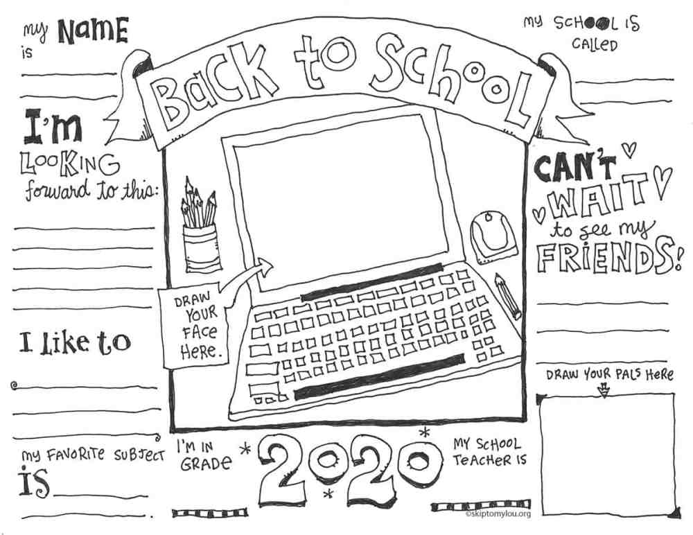medium resolution of First Day of School Coloring Pages (UPDATED WITH VIRTUAL OPTION)   Skip To  My Lou