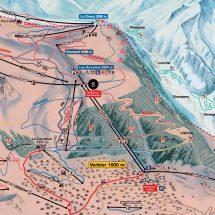 Verbier Switzerland Ski Map