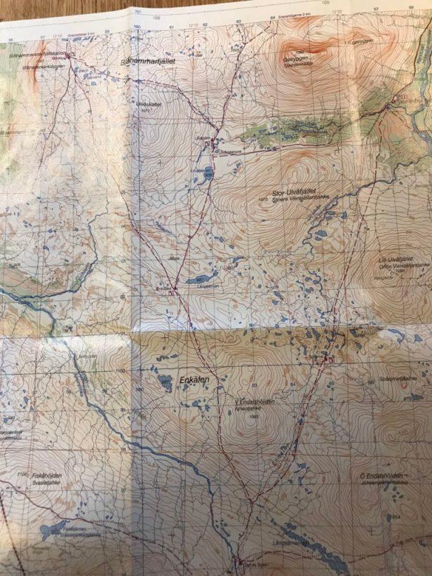 Karta över jämtlandstriangeln