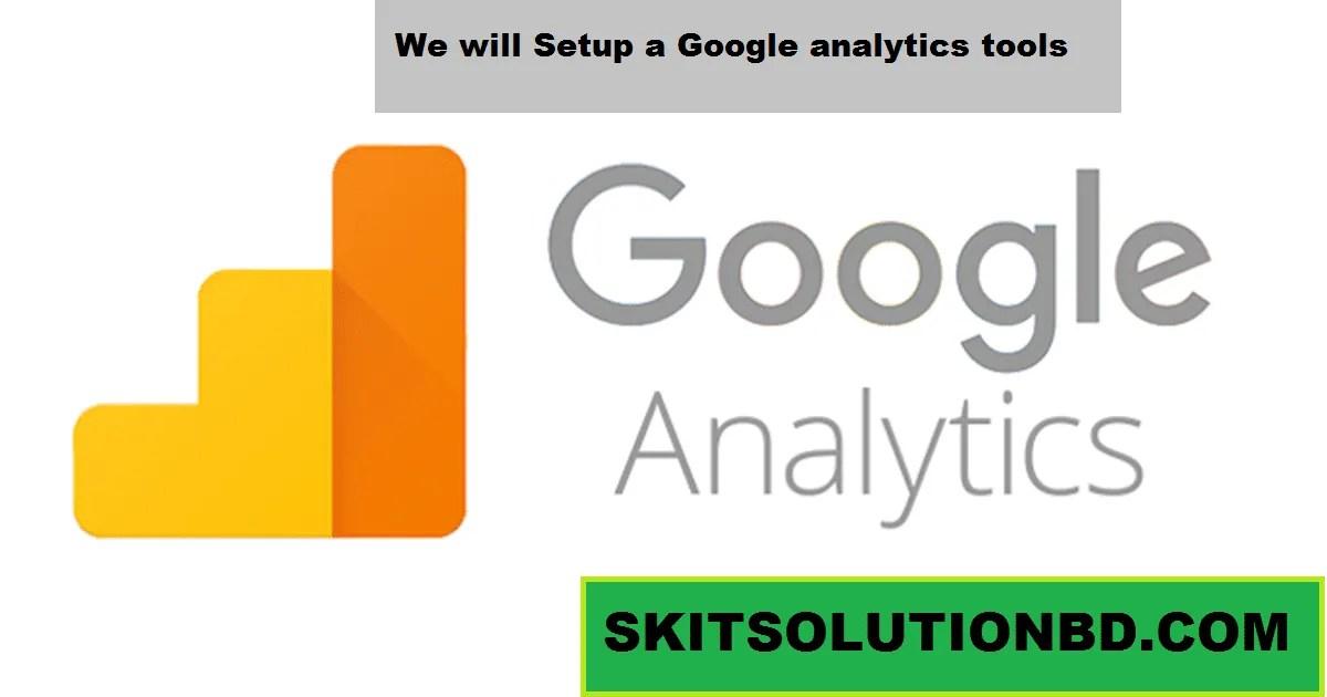 Setup a Google analytics tools