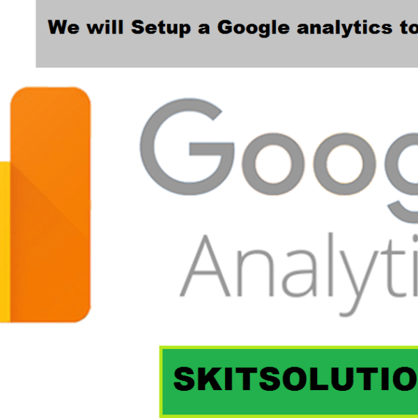 Setup a Google analytics tools