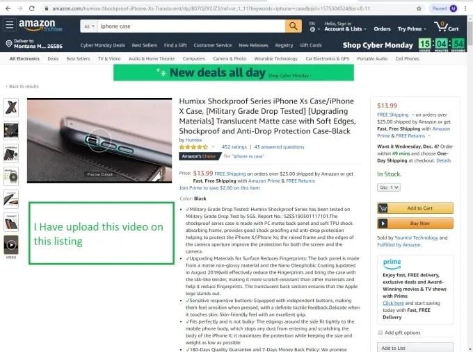 amazon video upload