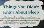 things sleep 150x97 16 Things You Didnt Know About Sleep