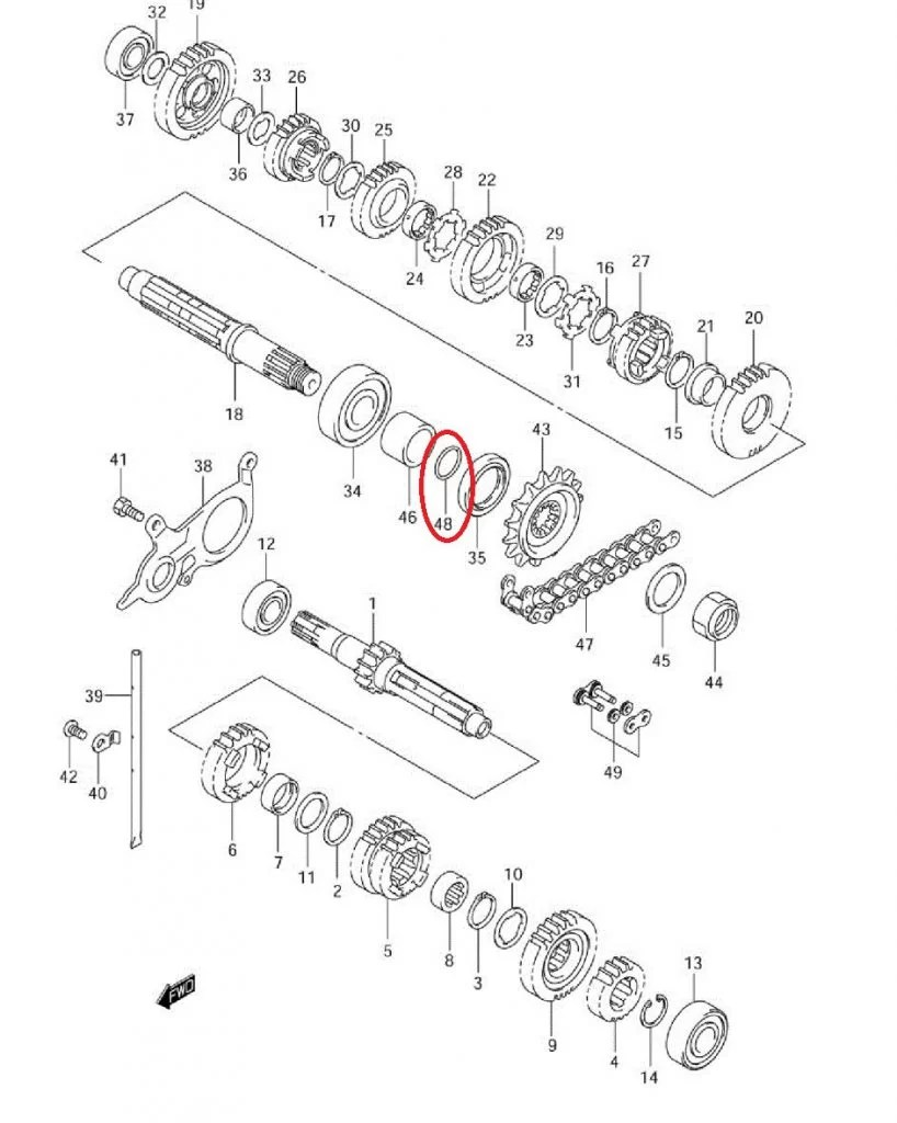O-RING WAŁKA ZDAWCZEGO SUZUKI 23,7 ( OEM: 09280-24010