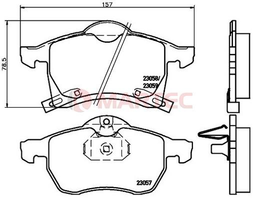Klocki Hamulcowe Opel ZAFIRA A, B 1999-2014r [oś przednia