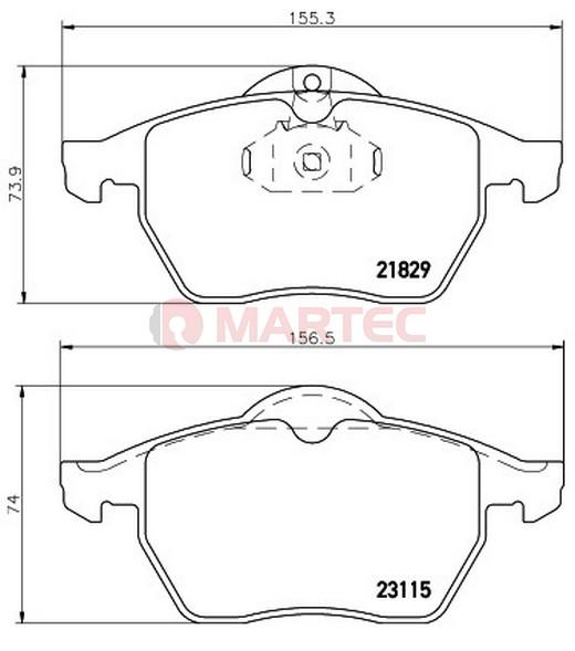 Klocki Hamulcowe Opel ASTRA G 1999-2005r [oś przednia