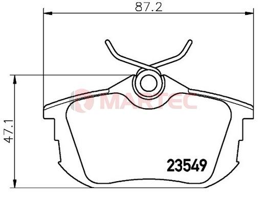 Klocki Hamulcowe Mitsubishi COLT 6 2004-2012r [oś tylna